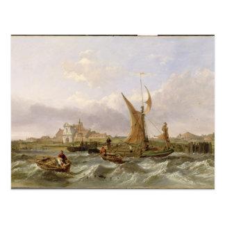 Tilbury Fort - Wind Against the Tide, 1853 (oil on Postcard