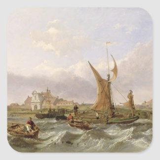 Tilbury Fort - Wind Against the Tide, 1853 (oil on Square Sticker