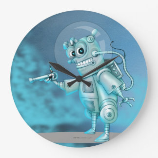 TILDE ROBOT ALIEN ROUND LARGE CLOCK