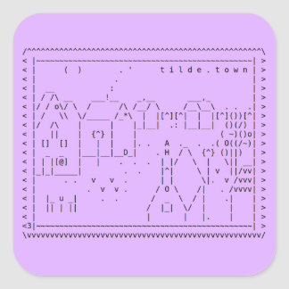 tilde.town ascii art sticker