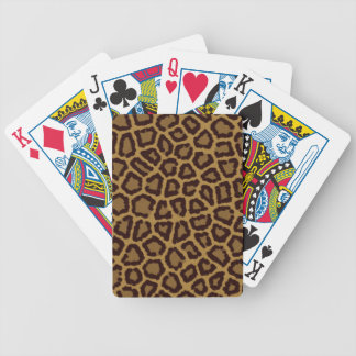 Tile background with a leopard fur bicycle playing cards