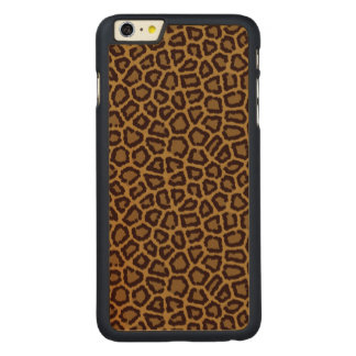 Tile background with a leopard fur carved® maple iPhone 6 plus case