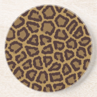 Tile background with a leopard fur coaster
