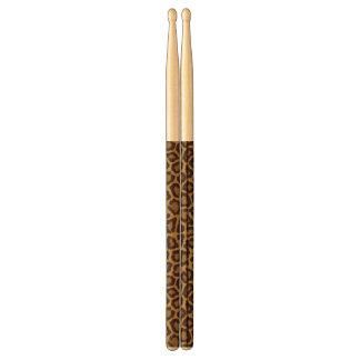 Tile background with a leopard fur drumsticks