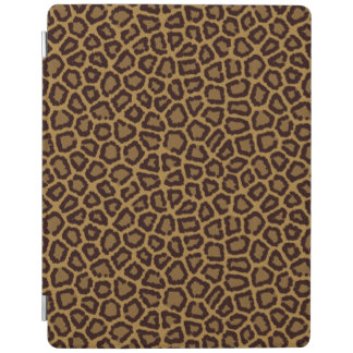 Tile background with a leopard fur iPad cover