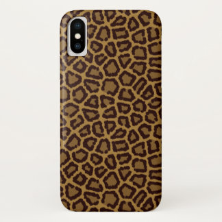 Tile background with a leopard fur iPhone x case