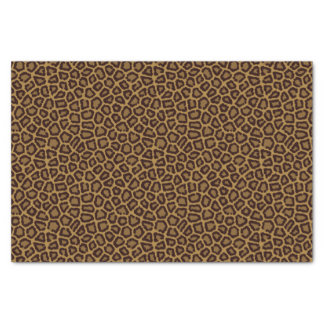 Tile background with a leopard fur tissue paper