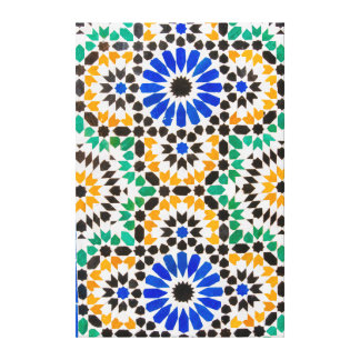 Tile decoration at Bahia Palace Stretched Canvas Print
