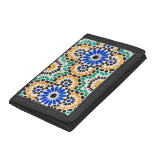 Tile decoration at Bahia Palace Trifold Wallet