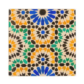 Tile decoration at Bahia Palace Wood Coaster