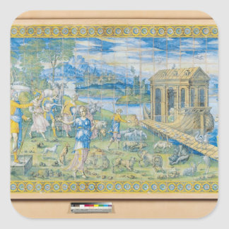 Tile depicting the Story of Noah Square Sticker
