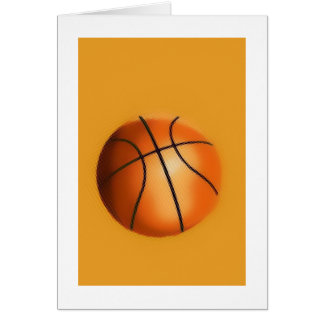 Tile Effect Basketball Greeting Card
