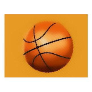 Tile Effect Basketball Post Card