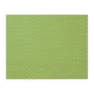 Tile flower pattern green wood prints