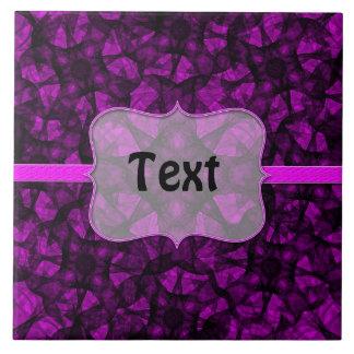 Tile fractal art black and pink