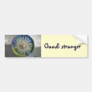 Tile Gaudi stranger Bumper Sticker