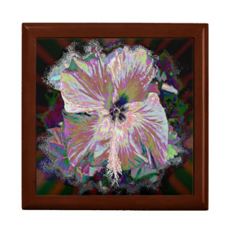 Tile Gift Box - Iridescent Hibiscus