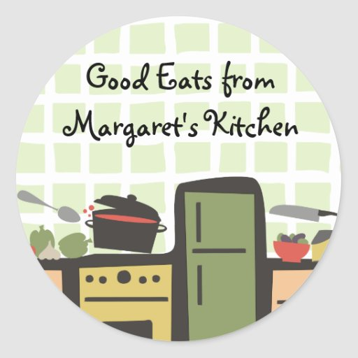 tile kitchen cooking tomato sauce gift tag sticker