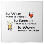 Tile or Trivet with Wine and Beer Lovers humour