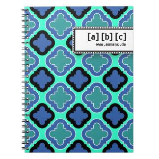 Tile Pattern blue Note Books