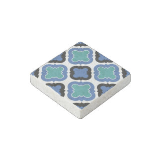 Tile Pattern blue Stone Magnet