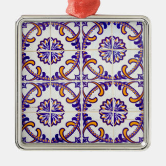 Tile pattern close-up, Portugal Christmas Ornament