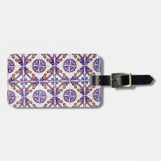 Tile pattern close-up, Portugal Luggage Tag