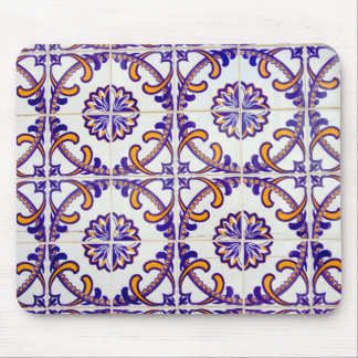 Tile pattern close-up, Portugal Mouse Mat