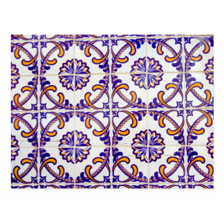 Tile pattern close-up, Portugal Postcard