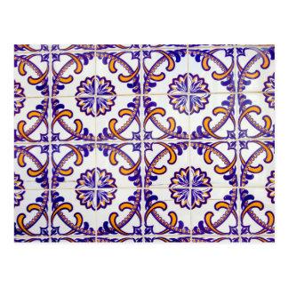 Tile pattern close-up, Portugal Postcard