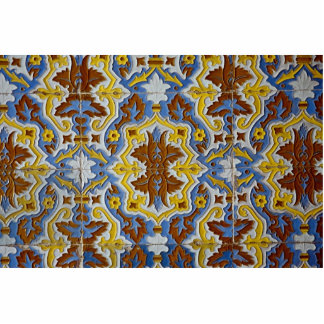 Tile pattern photo cut out
