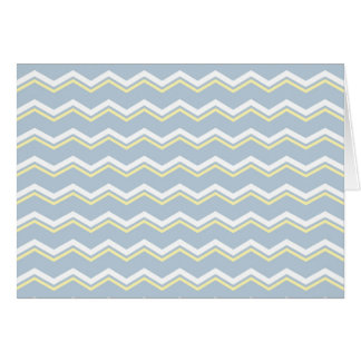 Tile pattern with white and yellow zig zag print card