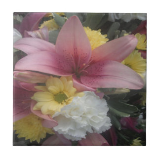 Tile Pink Lily Beauty