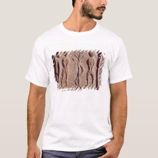 Tile representing Adam and Eve, Roman T-Shirt