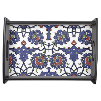 Tile Small Serving Tray, Black Serving Tray