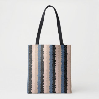 Tile Stripe Tote Bag