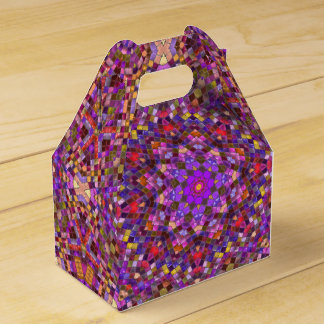 Tile Style Kaleidoscope Gable Favor Box Party Favour Box