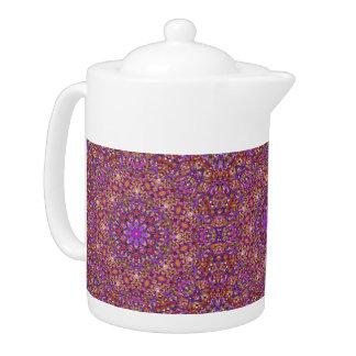 Tile Style  Kaleidoscope   Pattern  Teapots