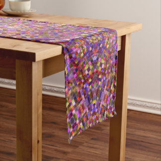 Tile Style Kaleidoscope    Table Runners, 3 sizes Short Table Runner