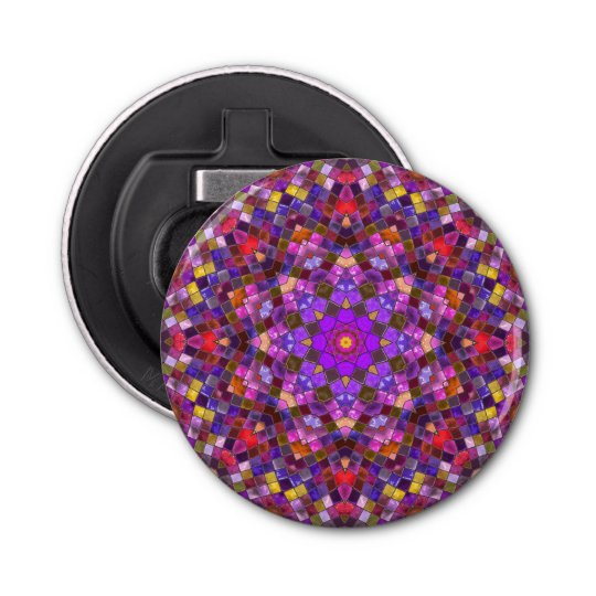 Tile Style Magnetic Round Bottle Opener