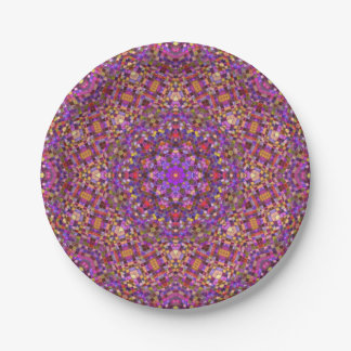 Tile Style Pattern    Custom Paper Plates 7 Inch Paper Plate