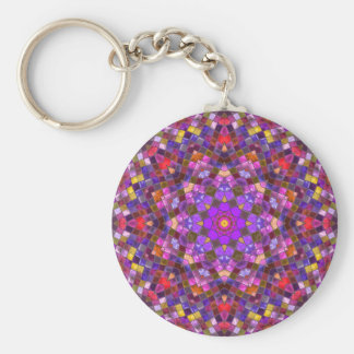 Tile Style Pattern   Keychains, 3 styles Key Ring