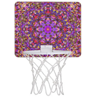 Tile Style Pattern Mini Basketball Goal Mini Basketball Hoop