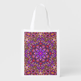 Tile Style Pattern Reusable Bag