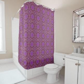 Tile Style Pattern  Vintage Purple Shower Curtain
