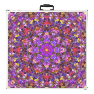 "Tile Style  Vintage Kaleidoscope  96""  Pong Table"