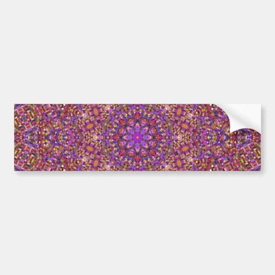 Tile Style Vintage Kaleidoscope Bumper Sticker
