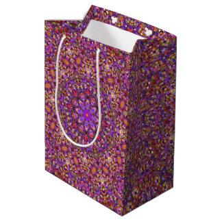 Tile Style Vintage Kaleidoscope Medium Gift Bag