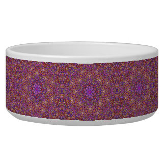 Tile Style Vintage     Kaleidoscope  Pet Dish Dog Bowl
