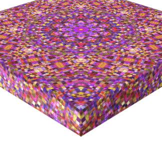 Tile Style  Vintage Kaleidoscope Wrapped Canvas